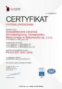certyfikat Lecznica Stomatologiczna 14001-page-001
